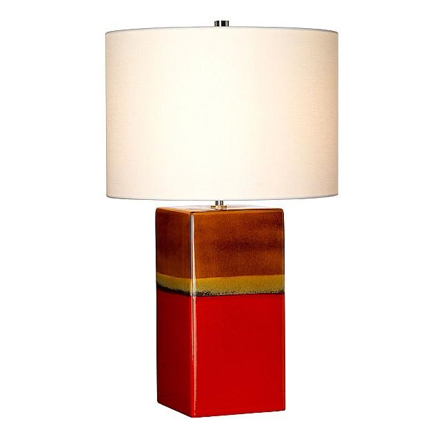 Alba 1 Light Table Lamp - Rouge