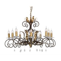 Amarilli 10 Light Chandelier - Bronze/Gold