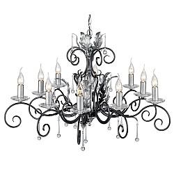 Amarilli 10 Light Chandelier - Black/Silver