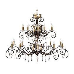 Amarilli 15 Light Chandelier - Bronze