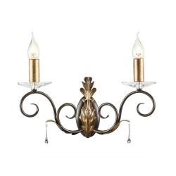 Amarilli 2 Light Wall Light - Bronze/Gold
