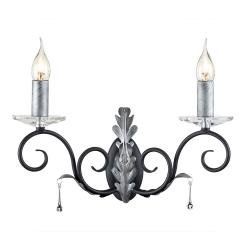 Amarilli 2 Light Wall Light - Black/Silver