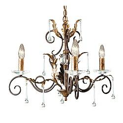Amarilli 3 Light Chandelier - Bronze/Gold