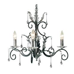 Amarilli 3 Light Chandelier - Black/Silver
