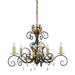 Amarilli 5 Light Chandelier - Bronze/Gold