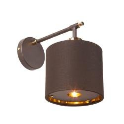 Balance 1 Light Wall Light - Brown and Polished Brass