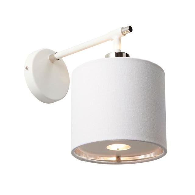 Balance 1 Light Wall Light - White and Polished Nickel