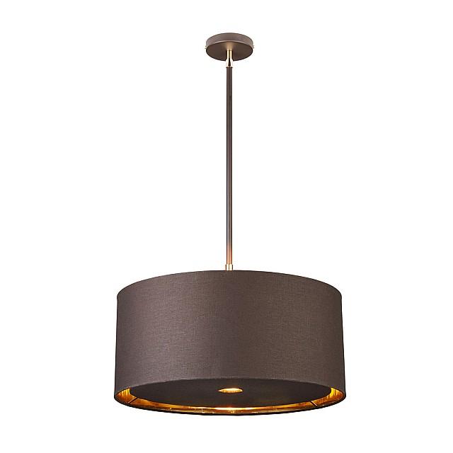 Balance 1 Light Pendant - Brown and Polished Brass