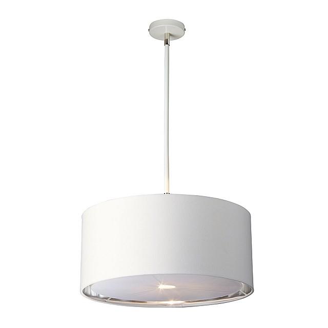 Balance 1 Light Pendant - White and Polished Nickel