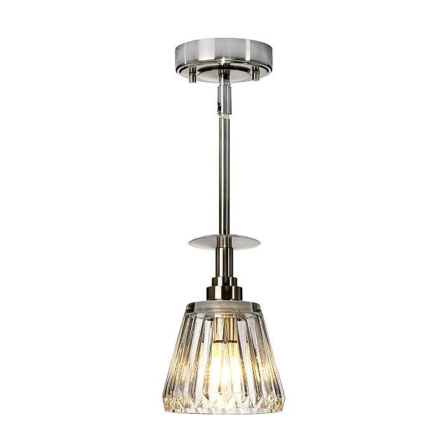 Agatha 1 Light Pendant - Brushed Nickel