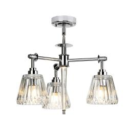 Agatha 3 Light Pendant - Polished Chrome