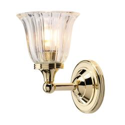 Austen 1 Light Wall Light - Polished Brass
