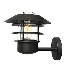 Helsingor 1 Light Wall Lantern - Black