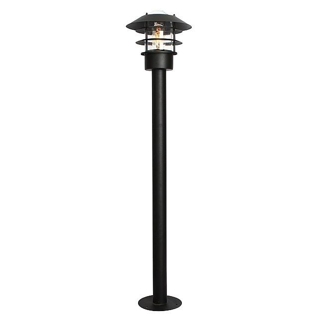 Helsingor 1 Light Bollard Lantern - Black