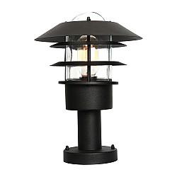 Helsingor 1 Light Pedestal Lantern - Black