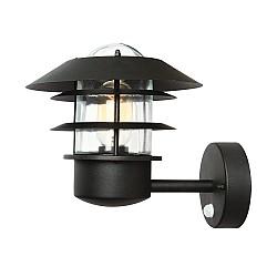 Helsingor 1 Light Pir Wall Lantern - Black