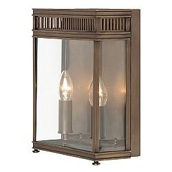 Holborn 2 Light Half Lantern Medium - Dark Bronze
