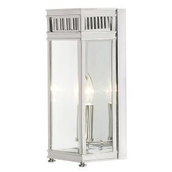 Holborn 1 Light Half Lantern Small - Polished Chrome