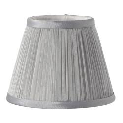 Clip Shades Pleated Grey Chiffon Candle Shade