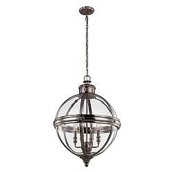 Adams 4 Light Pendant Chandelier - Antique Nickel