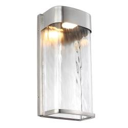 Bennie 1 Light Large LED Wall Light - Painted Brushed Steel