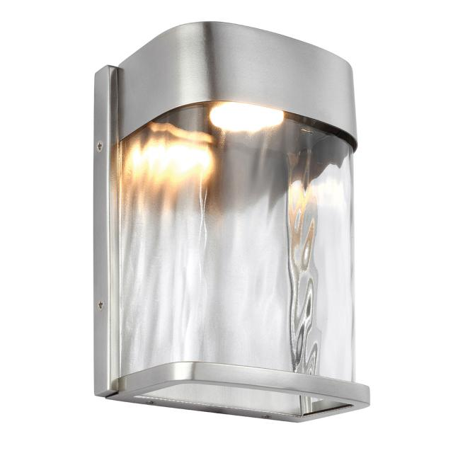 Bennie 1 Light Small LED Wall Light - Painted Brushed Steel