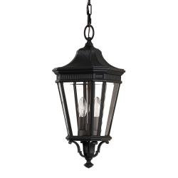 Cotswold Lane 2 Light Medium Chain Lantern - Black