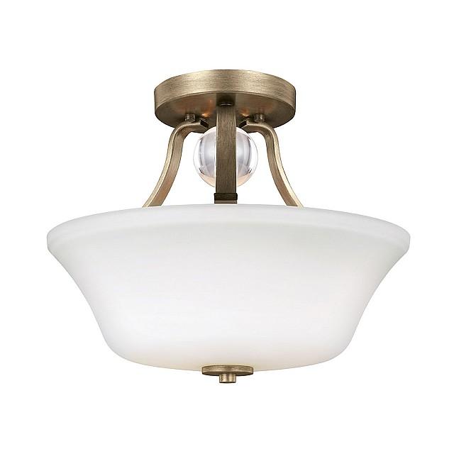 Evington 2 Light Semi-Flush - Sunset Gold