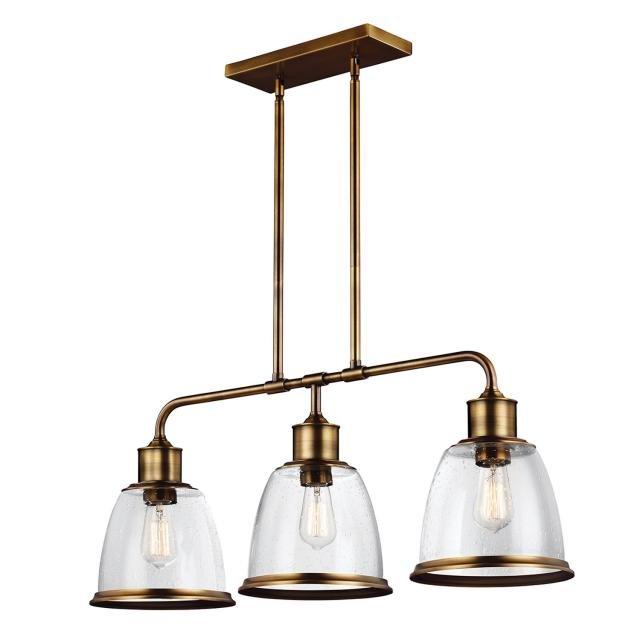 Hobson 3 Light Island Chandelier Aged Brass