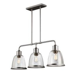 Hobson 3 Light Island Chandelier Satin Nickel