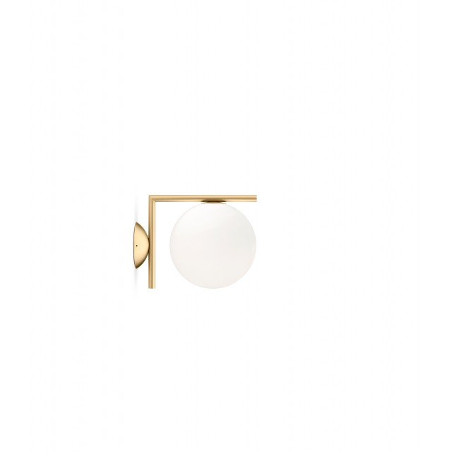 Flos Ic C/W1  Brushed Brass Wall Light