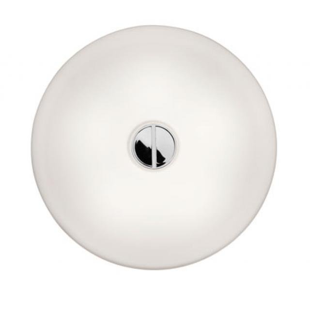 Flos Button HL White Glass Wall Light