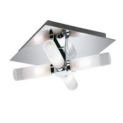 240mm Square Flush IP44 Chrome Finish