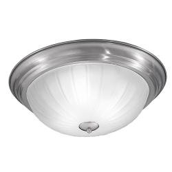 390mm Circular Flush Satin Nickel Finish
