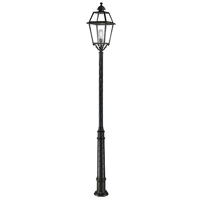 Nerezza Exterior Lamp-Post Dark Grey Finish
