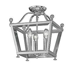 Atrio 3 light Flush Lantern Chrome Finish