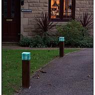 Mini Wooden Bollard With Glass Layers