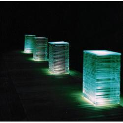 Large Glass Layer Decking Block Light