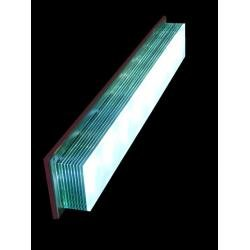 LED Long Glass Layers Wall Light