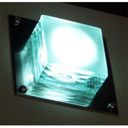 Glass Block LED Wall Light