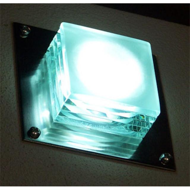 Glass Block LED Wall Light