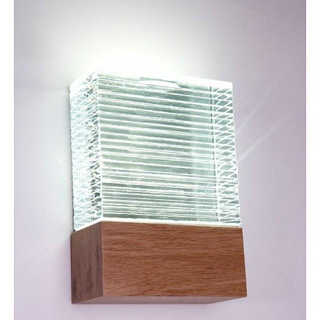 LED Glass Flush Indoor Wall Light