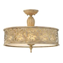 Carabel 3 Light Large Semi-Flush