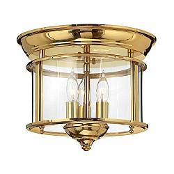 Gentry 3 Light Flush Mount - Polished Brass