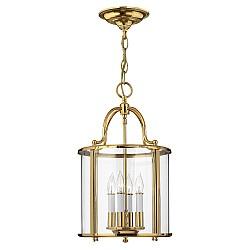 Gentry 4 Light Medium Pendant - Polished Brass
