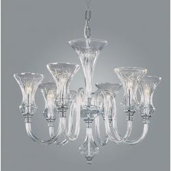 6 Light Chandelier from Czech Republic