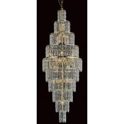 Glass Icicle Range 24 Light Pendant in Gold