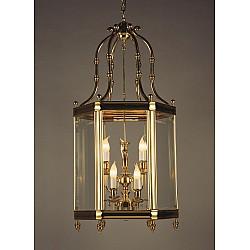 Cast Brass Lantern Layered 9 Light