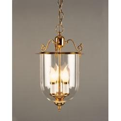 3 Light Lantern Solid Brass Pendant