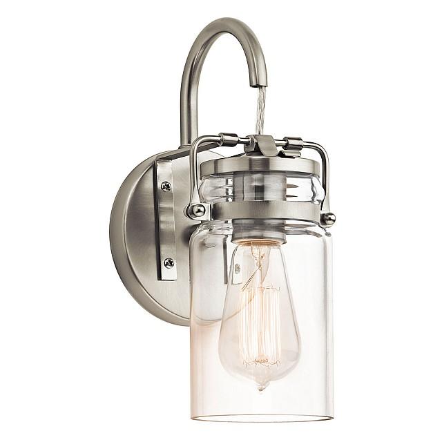 Brinley 1 Light Wall Light - Brushed Nickel